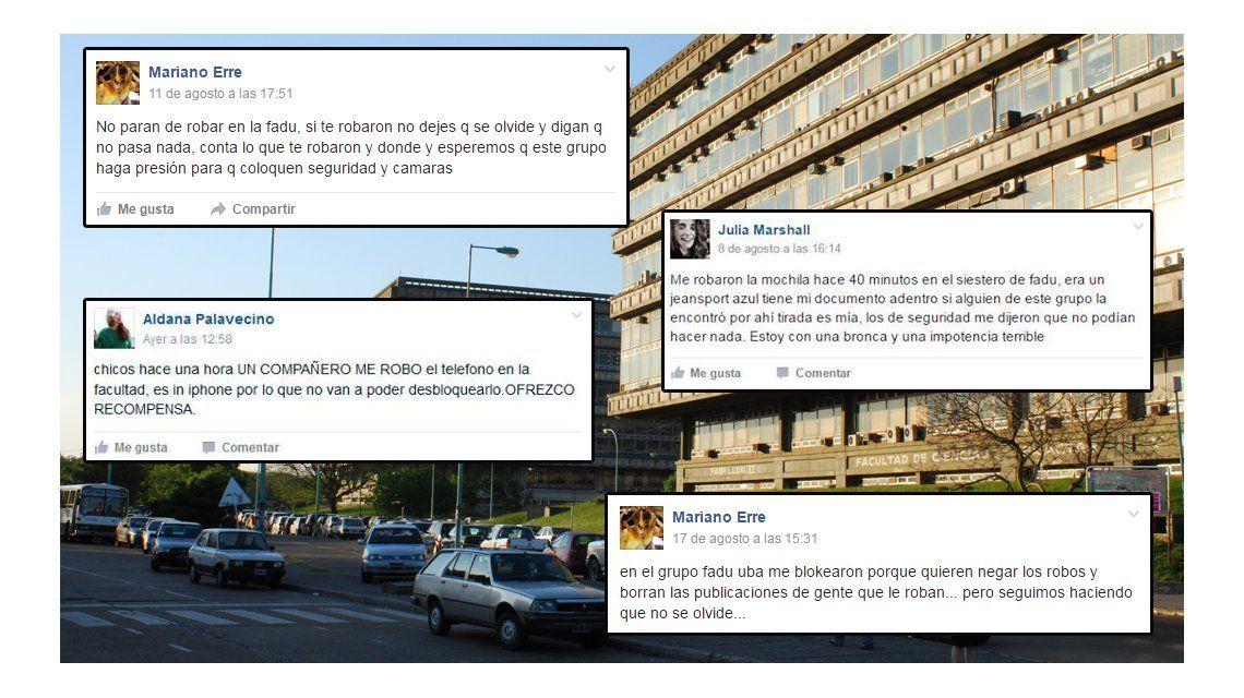 Por los robos crean un grupo en Facebook entre estudiantes de Ciudad Universitaria