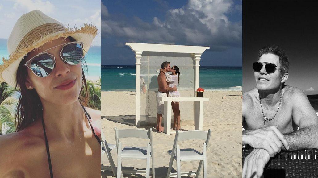 Fernando Burlando y Barby Franco dieron el sí, quiero en las playas de Cancún
