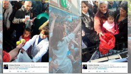 CFK: Hay colas por dos manzanas gratis