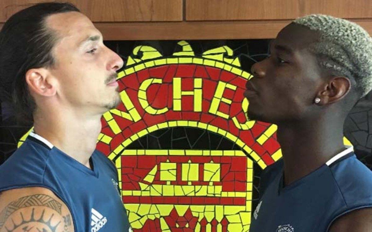 De crack a crack: Paul Pogba se animó a imitar a Zlatan Ibrahimovic