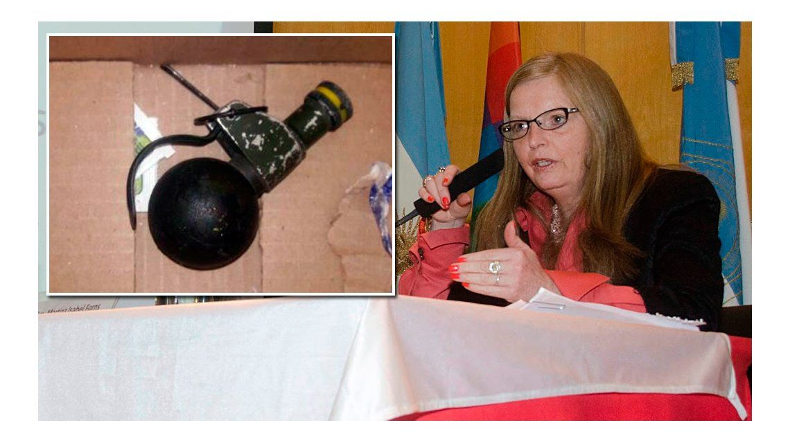 La granada encontrada cerca de la casa de la jueza Forms no podía explotar