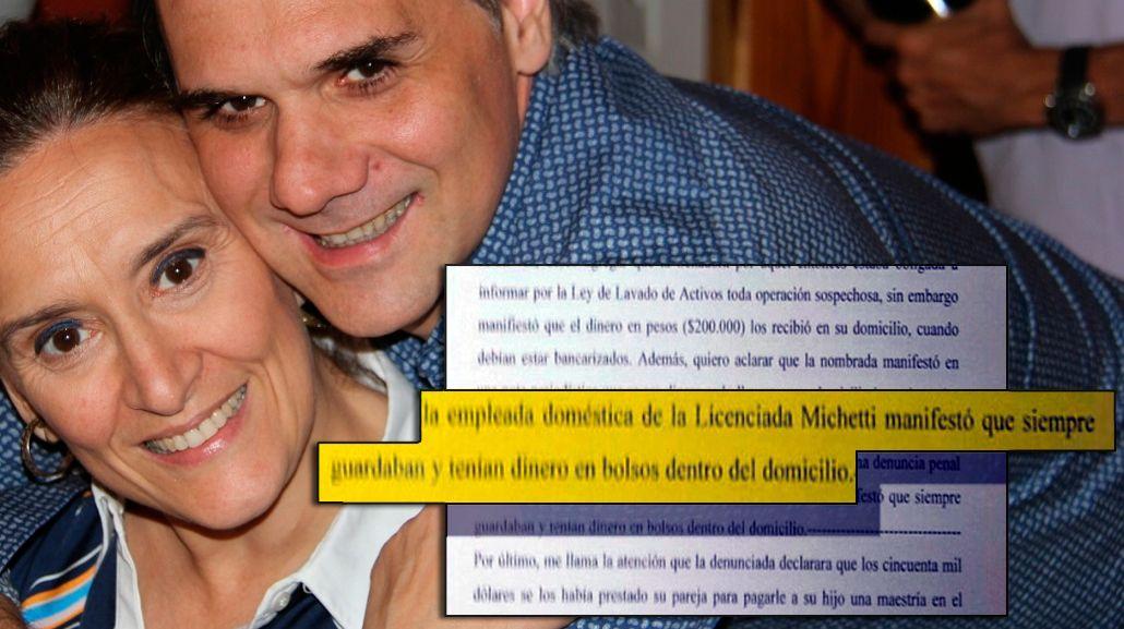 Michetti, sobre el dinero en bolsos: Mi empleada doméstica nunca dijo eso