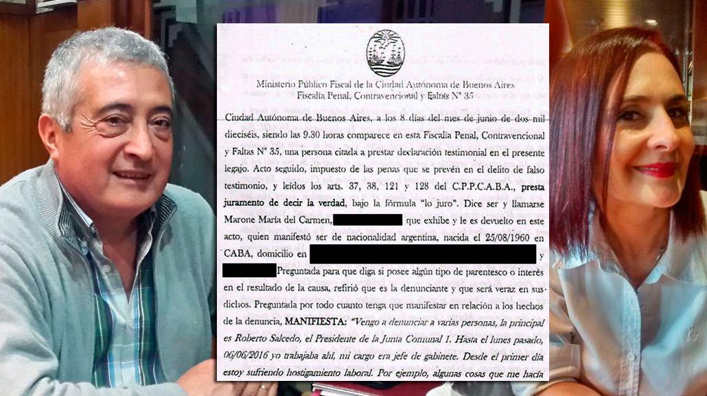 Denuncian a un jefe comunal del PRO de acosar sexualmente y maltratar a una empleada