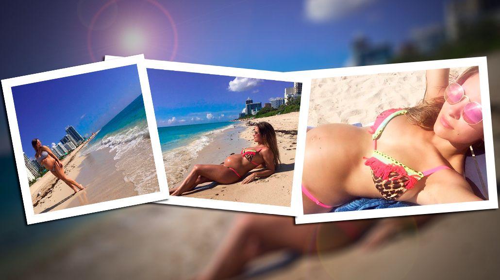 FOTOS: el álbum de Lourdes Sánchez, embarazada de seis meses y sexy en Miami