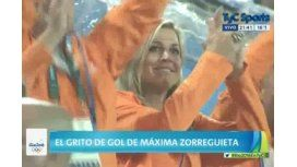 VIDEO: Mirá a la argentina Máxima Zorreguieta hinchando por Holanda