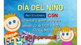 Ya podés participar en la campaña de C5N, R10 y Red Solidaria y donar tu juguete
