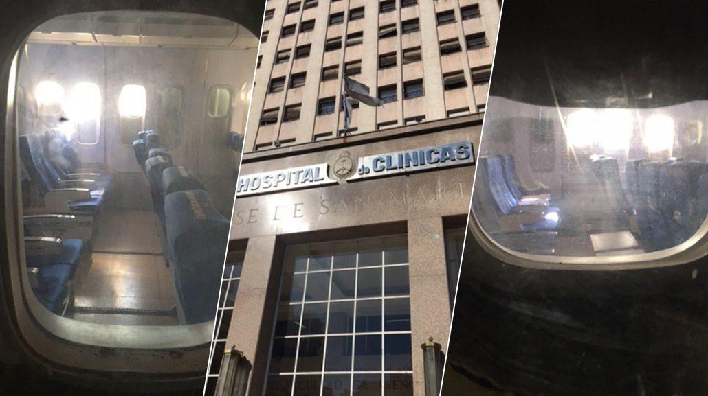 ¿Un avión en el Hospital de Clínicas?