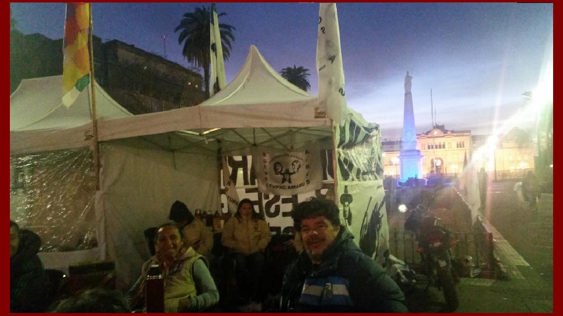 Acampe y huelga de hambre en Plaza de Mayo por Milagro Sala