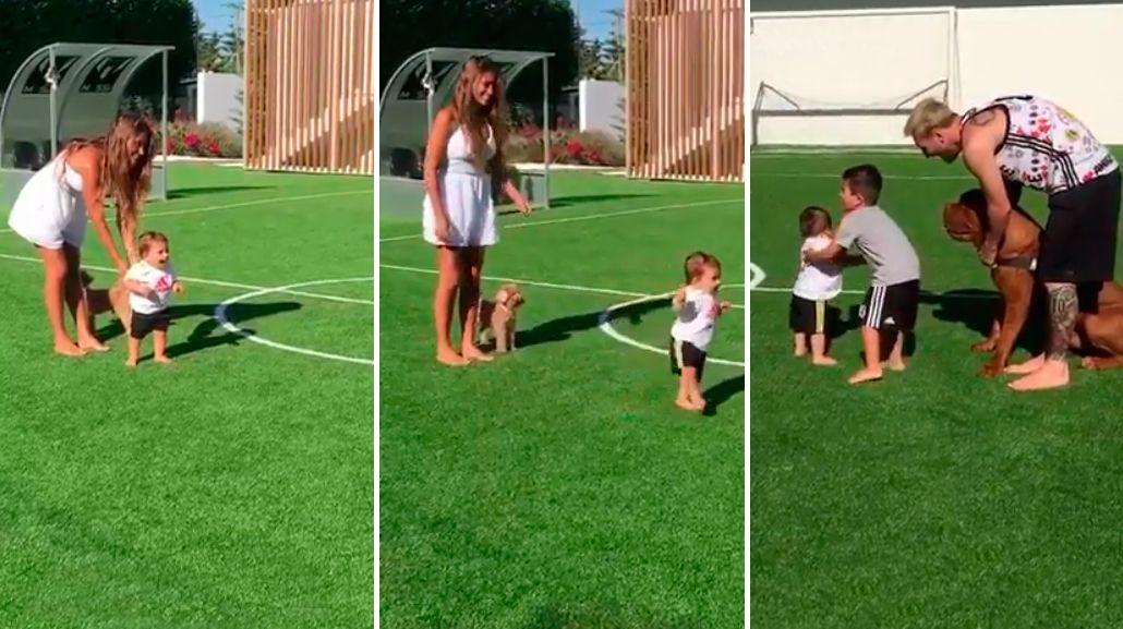 VIDEO: Mateo, el hijo de Lionel Messi, empezó a caminar