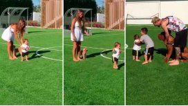 VIDEO: Mateo, el hijo de Leo Messi, empezó a caminar