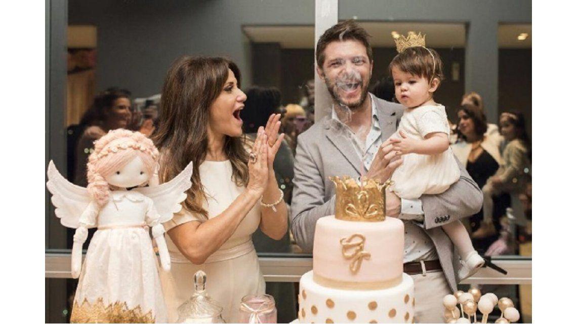 María Fernanda Callejón celebró el bautismo y el primer año de su hija Giovanna