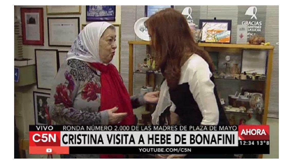 CFK visitó a Hebe de Bonafini en el día de las #2000Marchas