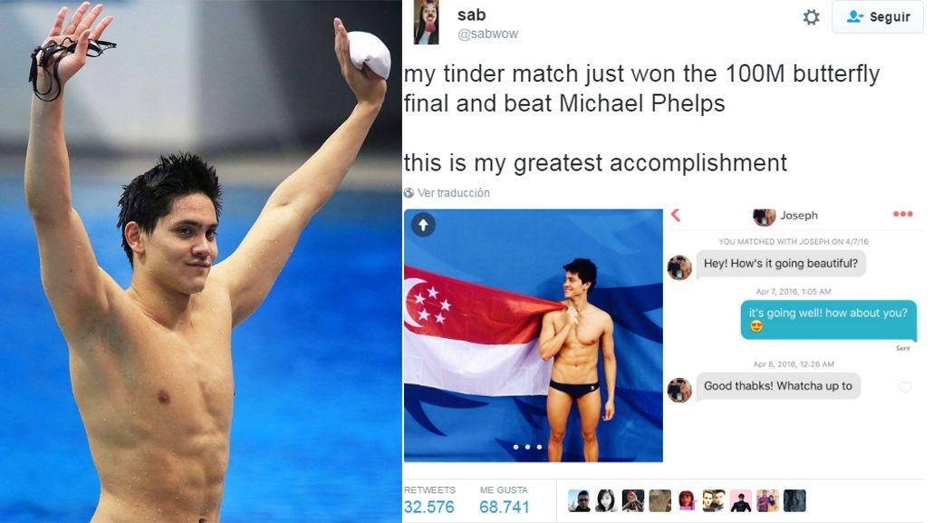Te querés matar: El hombre que ignoré en Tinder le acaba de ganar a Phelps