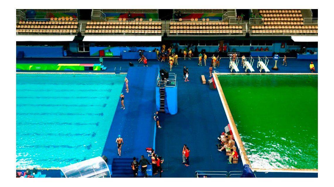 Juegos de Río: ¿por qué el agua de una piscina olímpica se tiñó de verde?