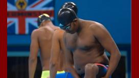 Peso pesado: un nadador de Etiopía hizo un papelón en los 100 metros libres