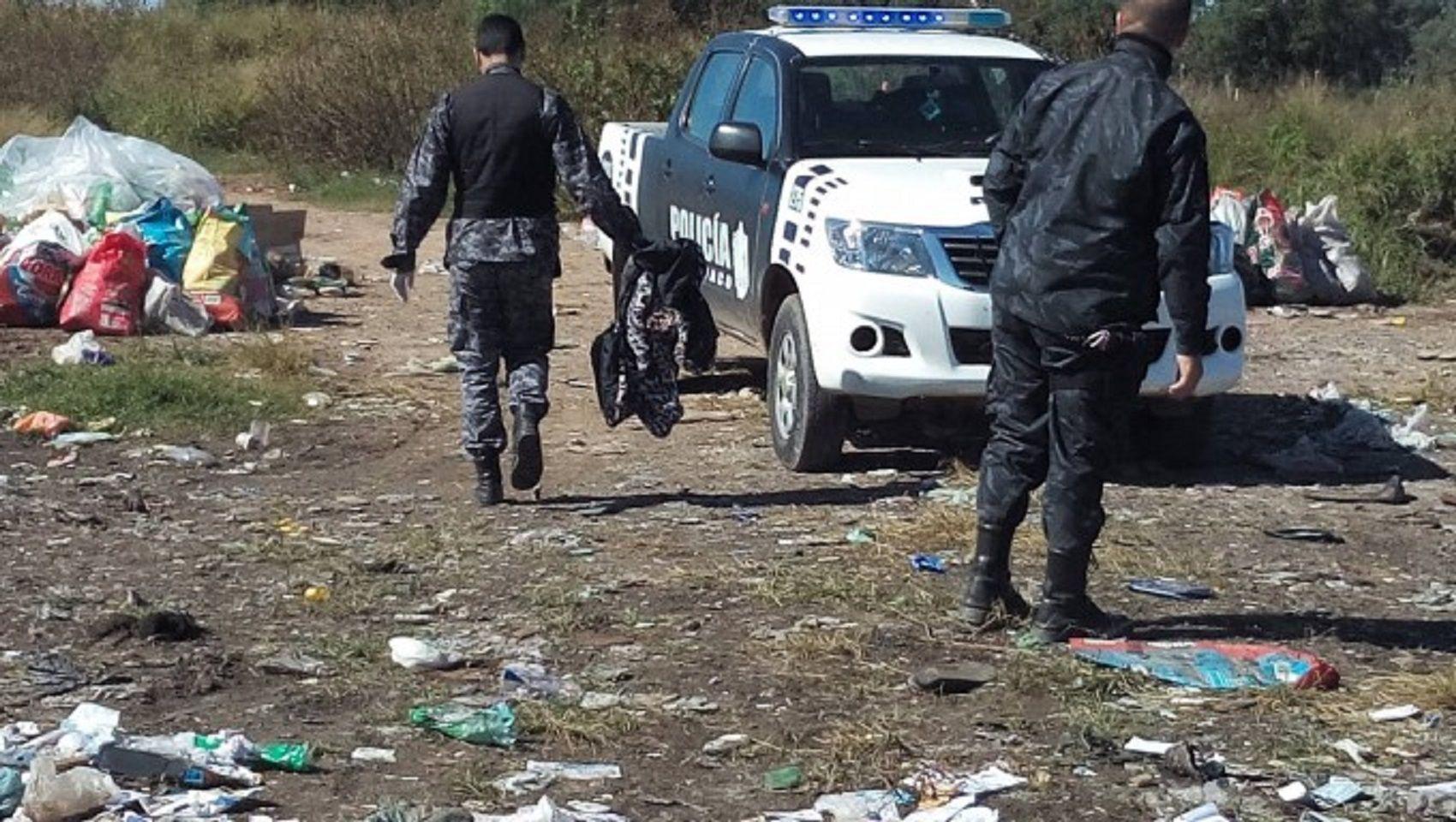 Hallaron a un bebé muerto dentro de una bolsa en San Luis