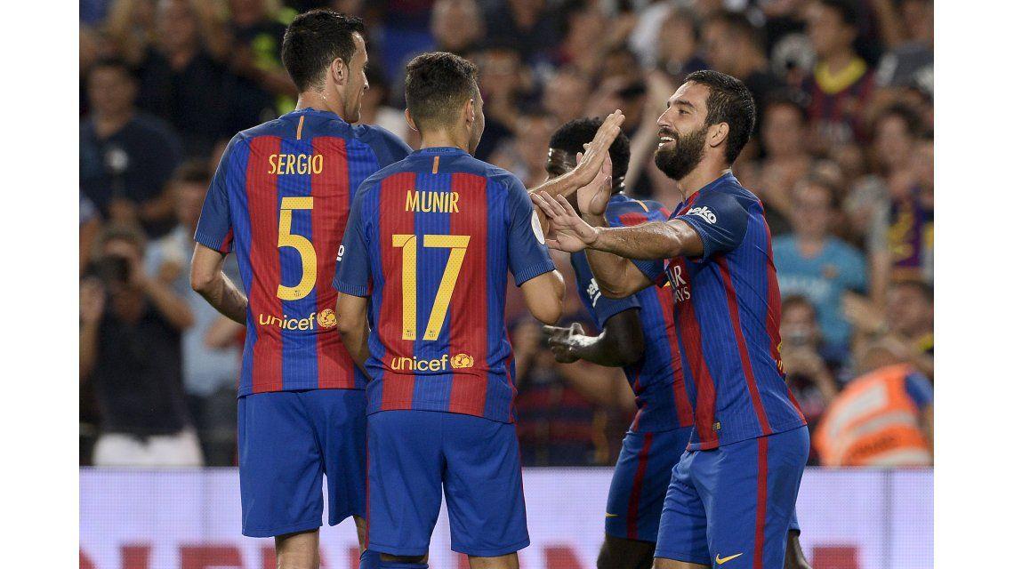 Barcelona se aprovechó del Sevilla de Sampaoli y ganó la Supercopa de España