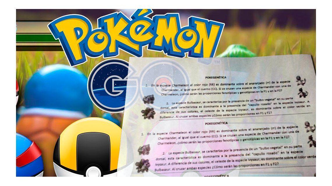 Una docente aprovechó el furor por Pokémon y elaboró un una Pokeprueba