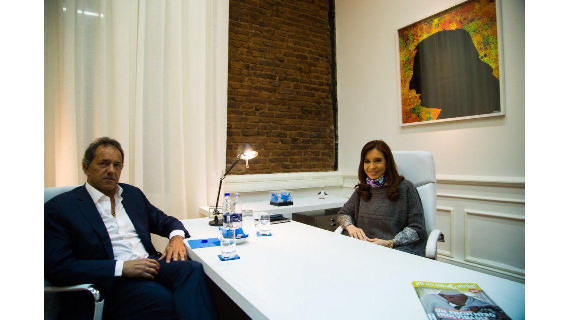 Scioli, tras reunirse con Cristina Kirchner: Hay un espíritu de unidad