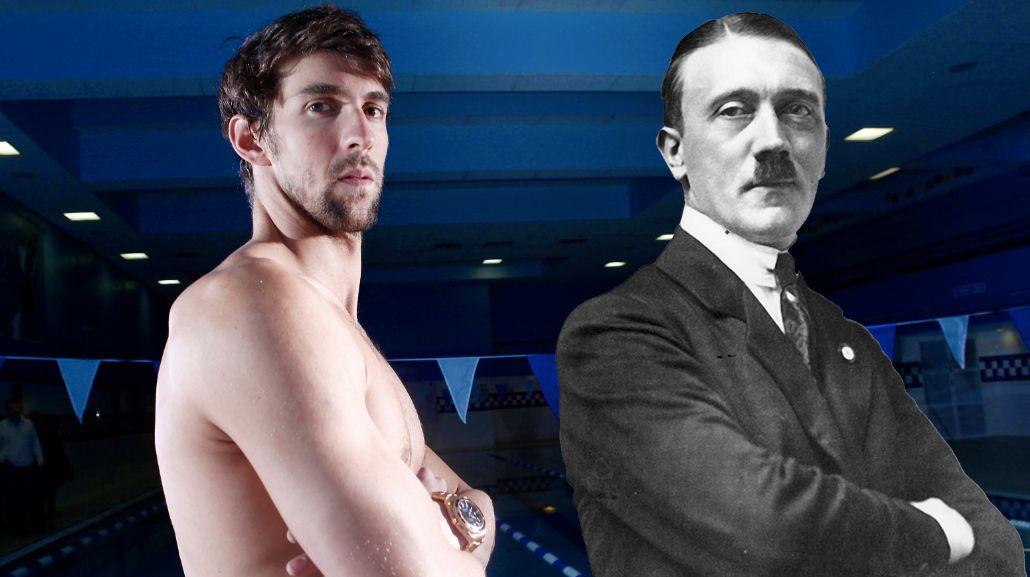 Insólito: el inesperado vínculo entre Michael Phelps y Adolf Hitler