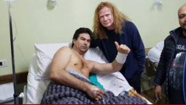 Megadeth visitó al fan apuñalado en su show