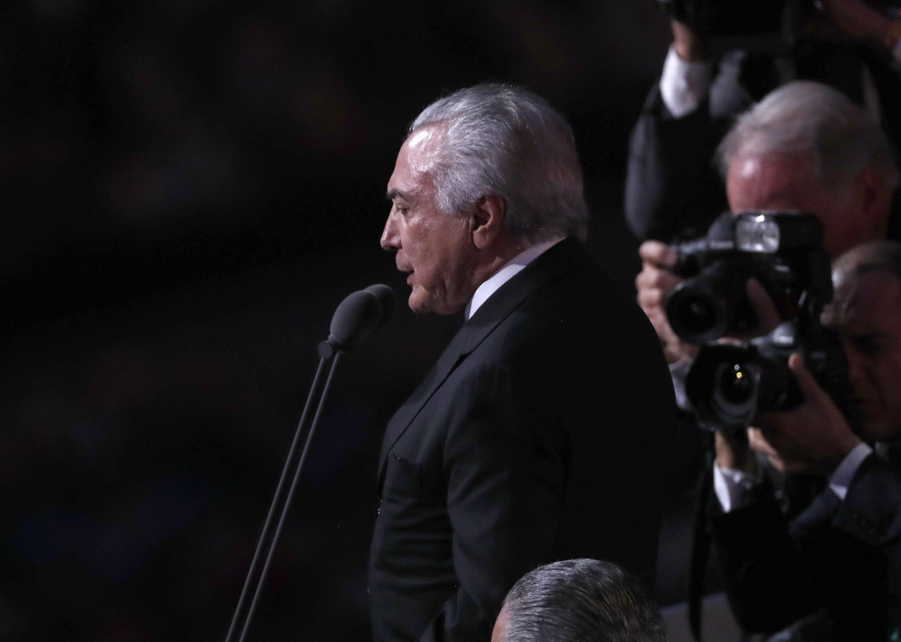 Temer fue abucheado cuando inauguró oficialmente los Juegos Olímpicos