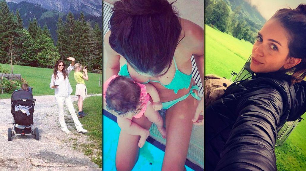 El primer viaje de Zaira Nara sola con su hija Malaika a Austria e Italia