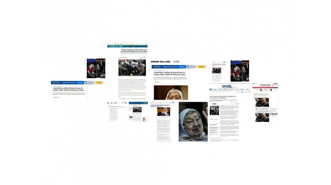 La noticia de la orden de detención de la líder de Madres de Plaza de Mayo conmueve al mundo
