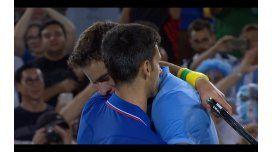 Los grandes también lloran: mirá las lágrimas de Del Potro y Novak Djokovic