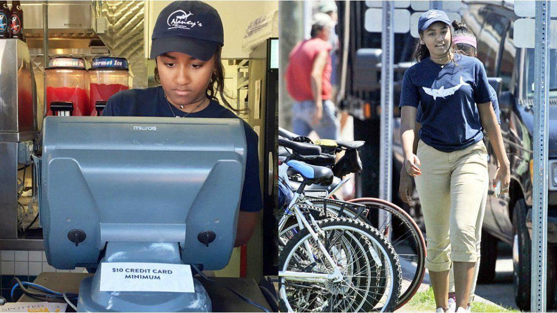 Cambio de época: la hija menor de Obama consiguió trabajo como cajera