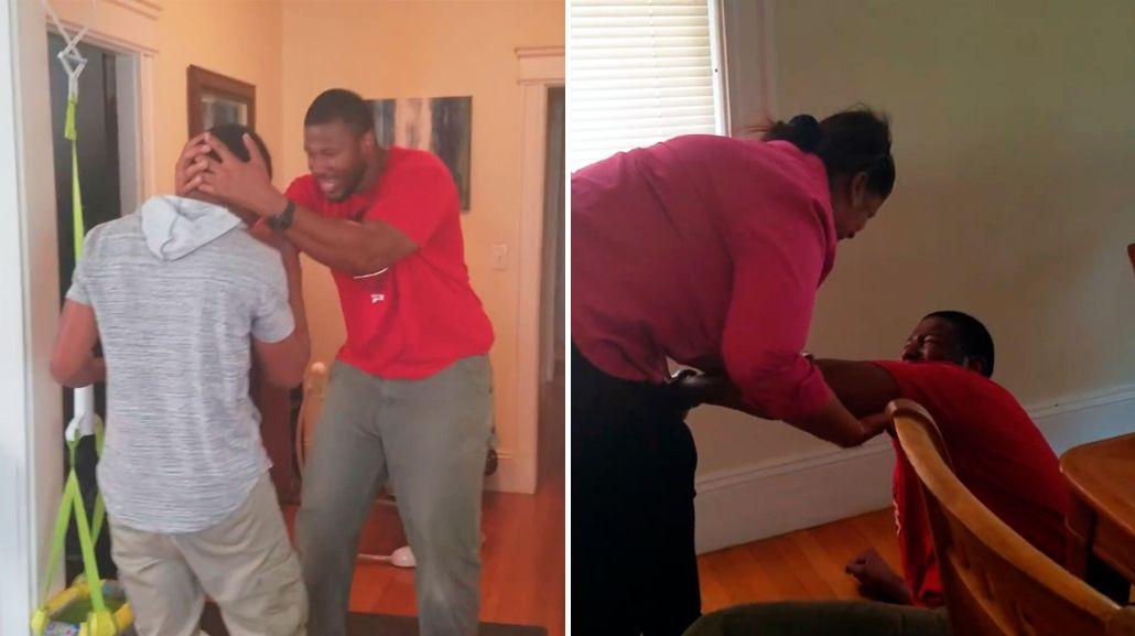 VIDEO: La emotiva reacción de un joven al ver a su madre después de 10 años