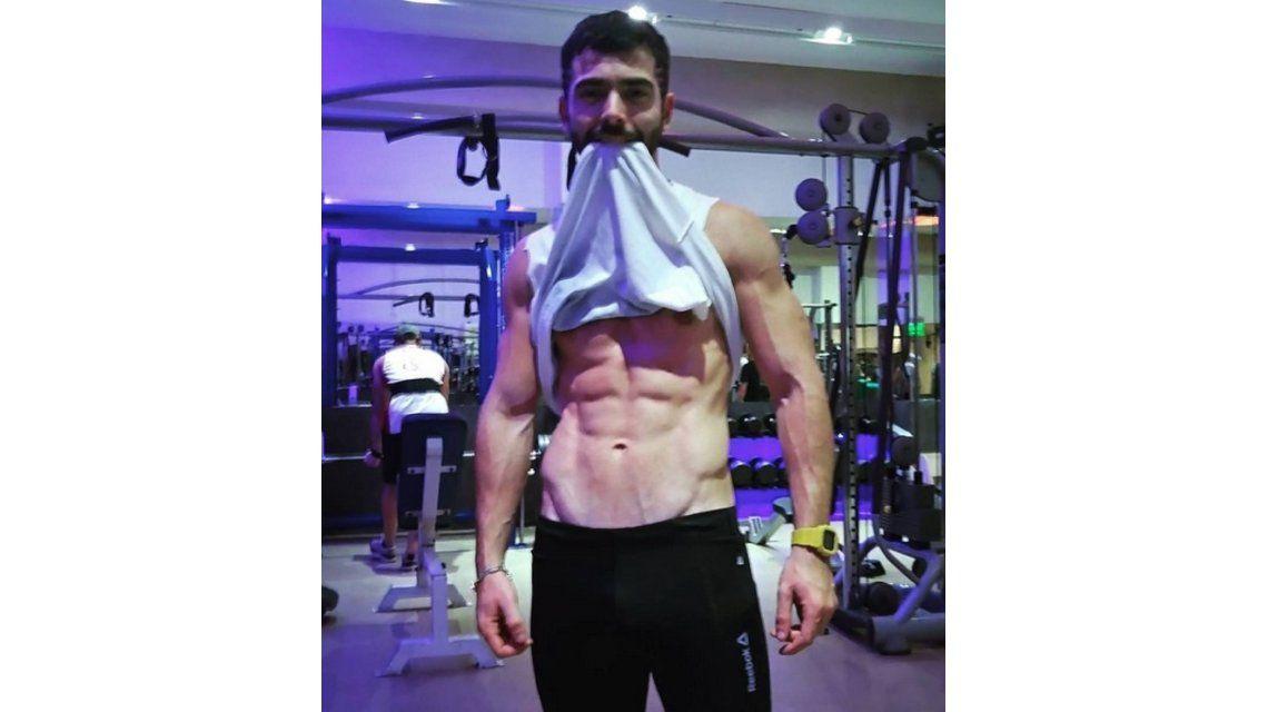 ¡Un Potro! Nazareno Casero mostró con sus abdominales en Instagram
