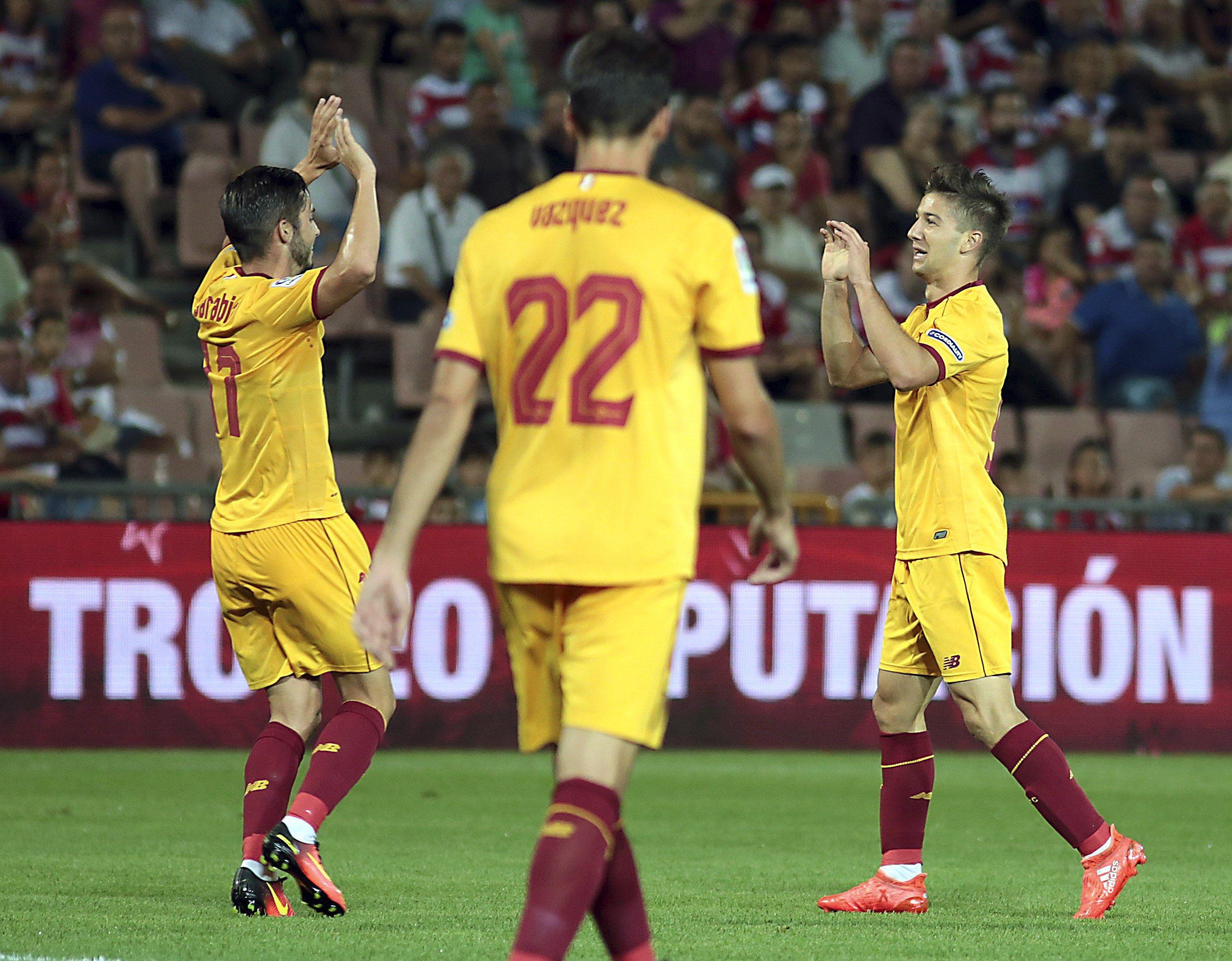 Mirá el golazo de Luciano Vietto; el primero con la camiseta del Sevilla
