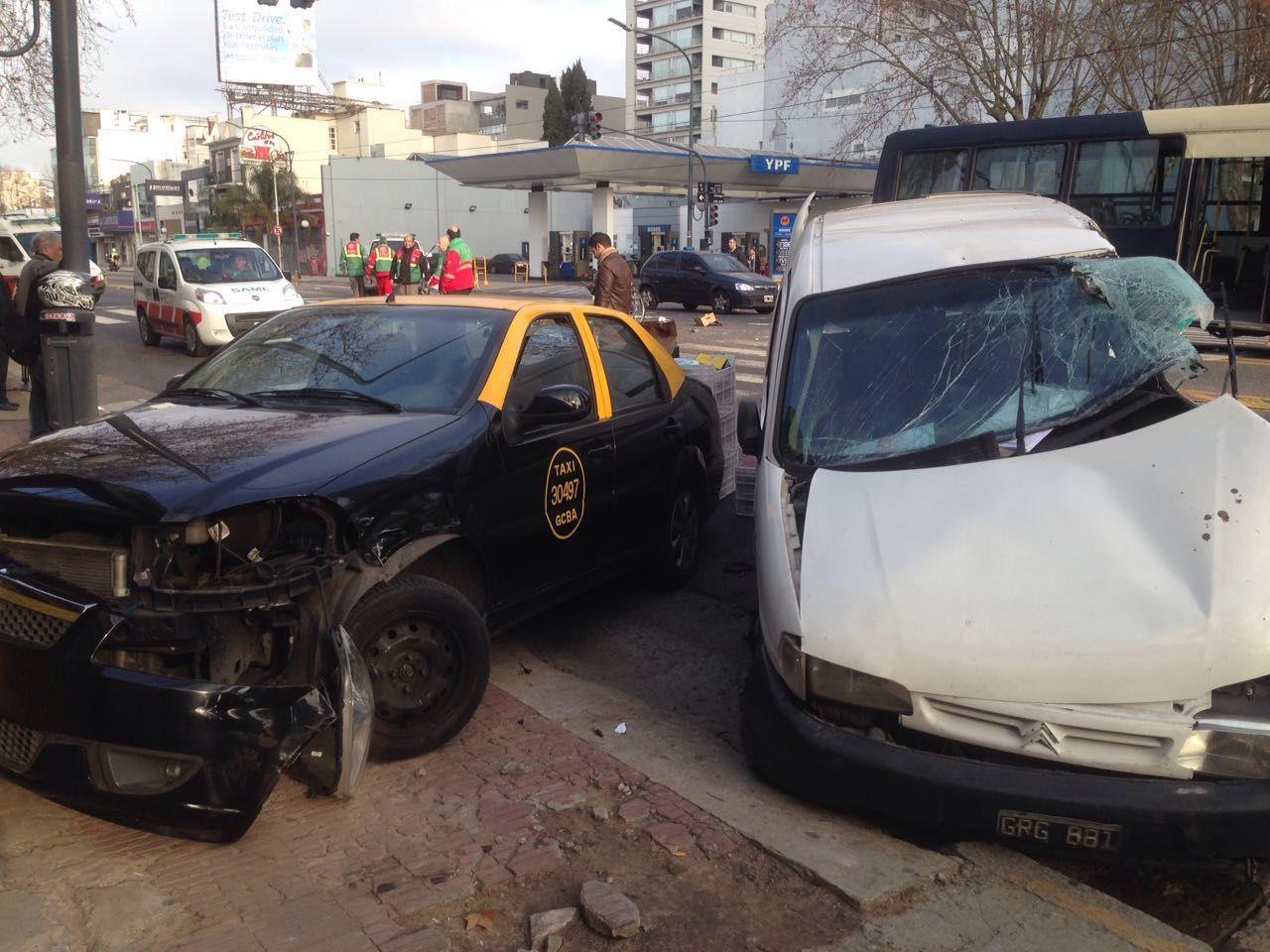 Choque en Palermo: los ocupantes de la camioneta admitieron la mala maniobra