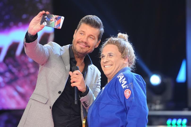 ShowMatch: desopilante imitación del Bicho Gómez a la judoca Paula Pareto