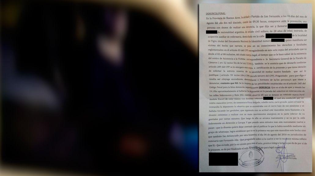VIDEO: Denuncian a un hombre que se masturba desde su auto en San Fernando