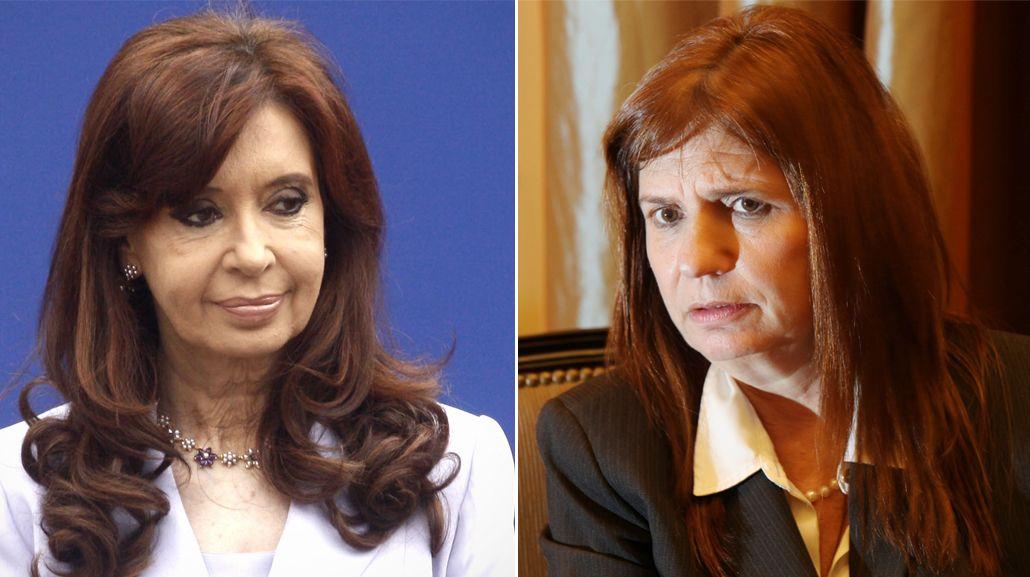 Cristina Kirchner responsabilizó a Bullrich si le sucede algo a ella o a su familia