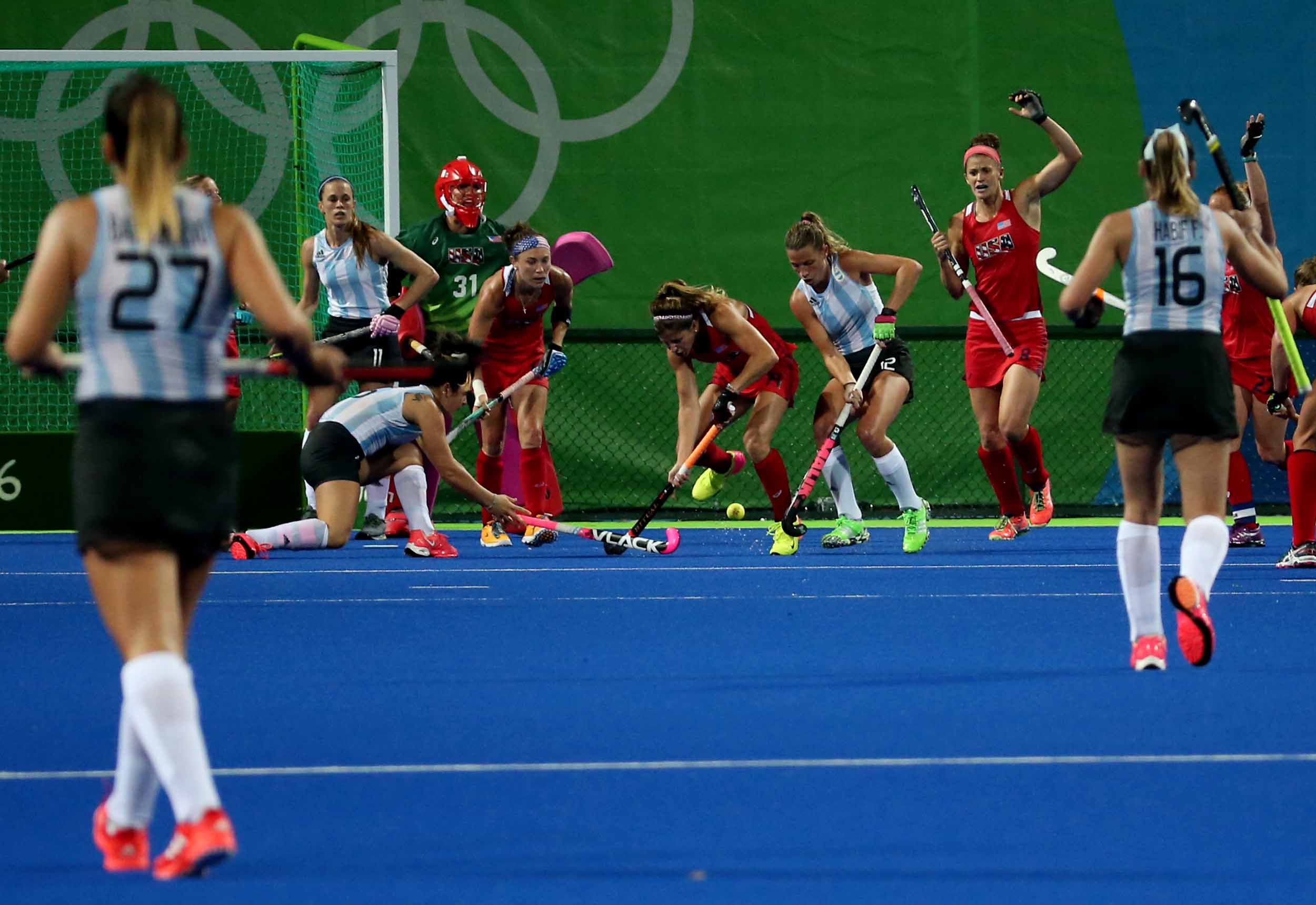 Las Leonas no pudieron ante Estados Unidos en el debut de Río 2016