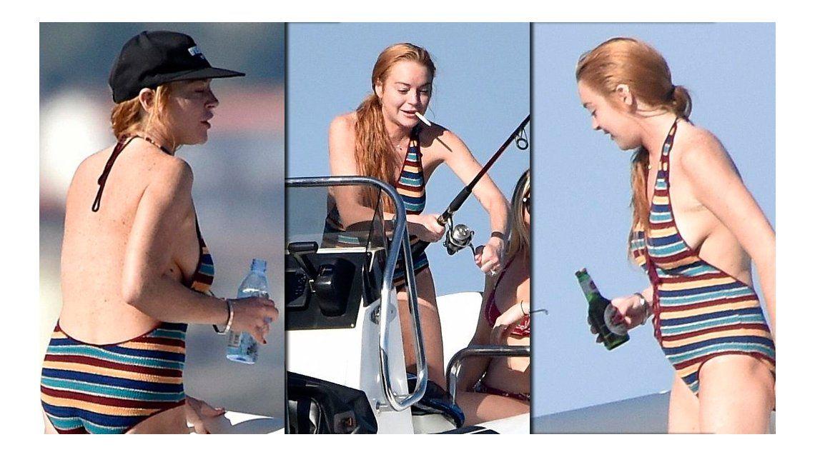 Polémicas fotos de Lindsay Lohan fumando y tomando alcohol