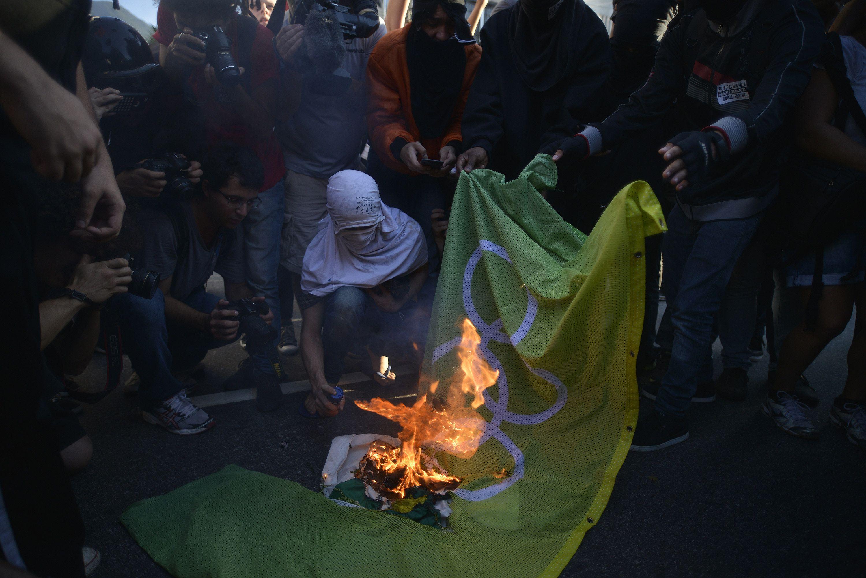 Protestas en la previa de la apertura de los Juegos Olímpicos de Río 2016