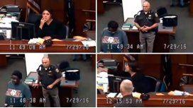 Enojo de jueza por arresto de mujer sin pantalones