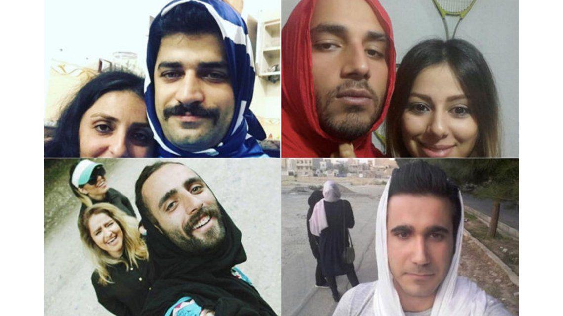 Hombres iraníes protestan contra el uso obligatorio del velo para las mujeres