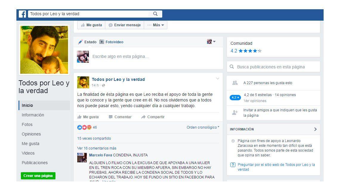 El presunto depravado del Roca ya tiene un grupo de Facebook en su defensa
