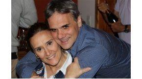 Michetti, junto a su novio Tonelli