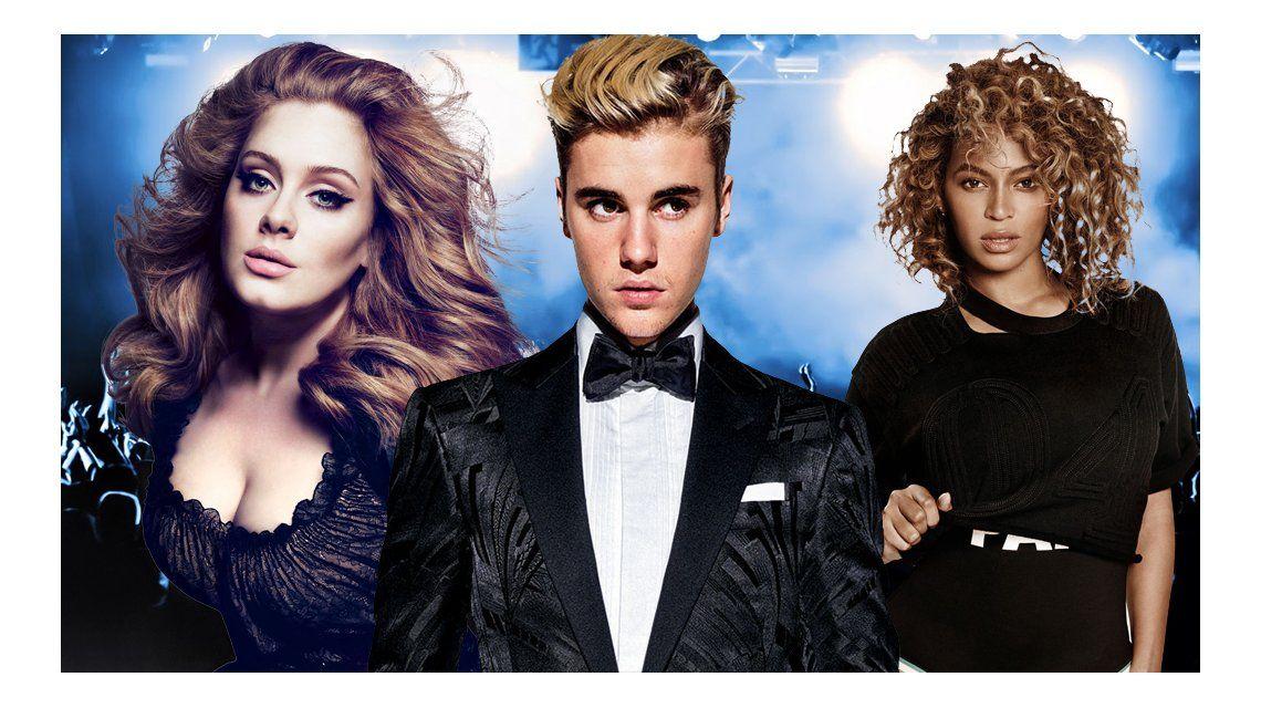 Llegan los Video Music Awards: Beyoncé, Adele y Justin Bieber, los más nominados