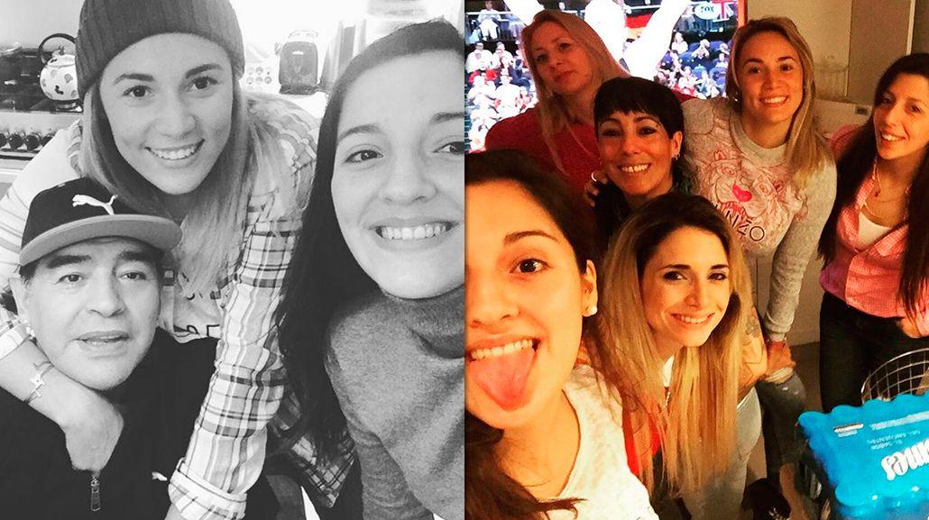 Las fotos compinche de Rocío Oliva y Jana Maradona: ¿es la preferida?