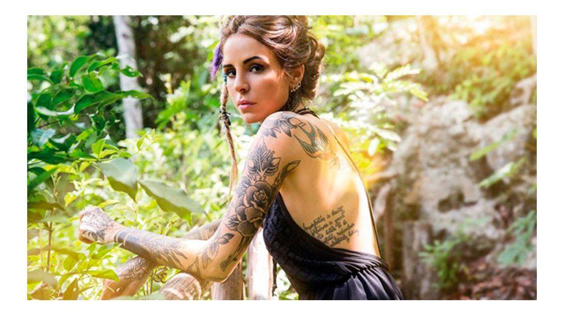 Los excéntricos nuevos tatuajes de Cande Tinelli