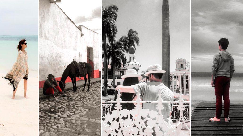 El viaje de Celeste Cid, embarazada, junto a su hijo André a Cuba