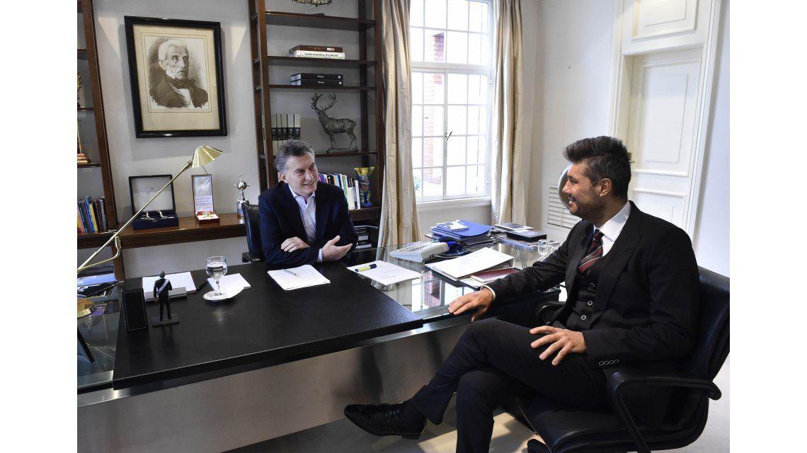 Luego de la polémica con los trolls, Macri recibió a Tinelli en Olivos