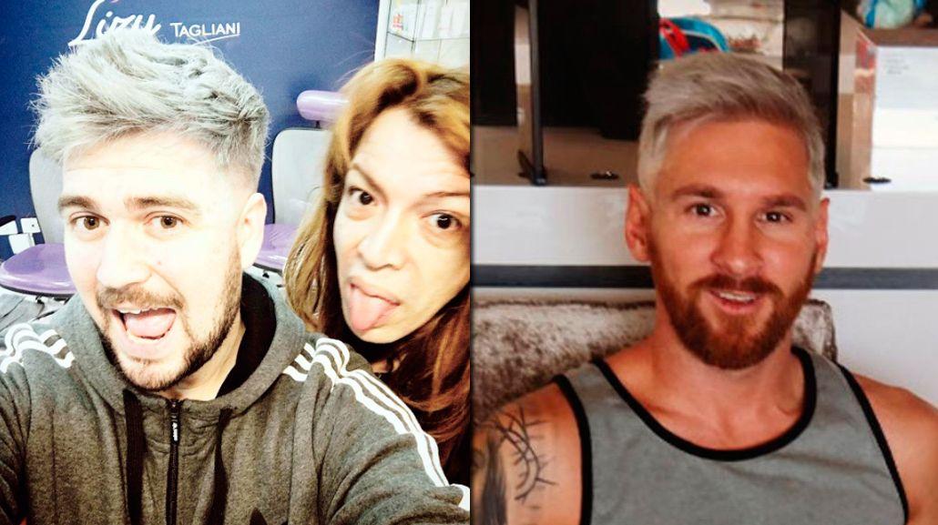 VIDEO: Lizy Tagliani tiñó en vivo al humorista de Del Moro con el look de Messi